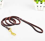 Dog Leashes Adjustable/Retractable Brown Genuine Leather