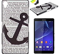 Anchor Pattern PC Hard Case and Phone Holder for Sony Z2