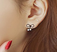 Korean Decorative Small Fresh Bow Pearl Earrings