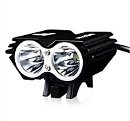luna 2000lm cree cuerpo de aleación de aluminio XM-L U2 LED del modo de flash 4 negras luces delanteras ciclismo impermeables con baterías