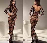 filetage d'une pièce voir à travers les vêtements de nuit sexy uniforme des femmes