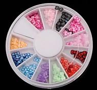 12 цвет фруктов мягкая керамика лук серии проигрыватель Nail Art Decoration