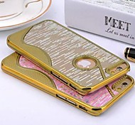 Small Pretty Waist Gold Stripes Shimmer Plastic Hard Case for iPhone 6 (Assorted Colors)