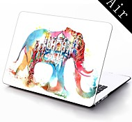 Water Colorful Elephant Design Full-Body Protective Plastic Case for 11-inch/13-inch New Mac Book Air