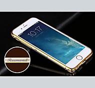 Gravur exquisite goldbetreßten Metallstoßfeld-Oberteil für 4,7-Zoll-iphone 6 (Gold, Silber, schwarz, pink)