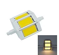 R7S 5 W COB 450 LM Warm White Recessed Retrofit Decorative Flood Lights AC 85-265 V