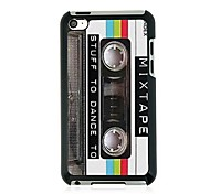 Retro Tape Leather Vein Pattern Hard Case for iPod touch 4