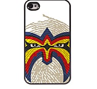 The Face Pattern Aluminum Hard Case for iPhone 4/4S