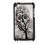 Tree Leather Vein Pattern Hard Case for iPod touch 4