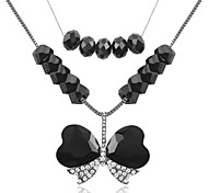 Cold Metal Butterfly-Shaped Love Strands Necklaces(Huoluo Jewelry)