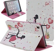 Office Lady Inlaid Shiny Glitter Diamond PU Flip Protective Case Cover for iPad mini