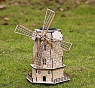Holland Windmills DIY Colored Drawing and Automatic Solar Light Sensation Toy