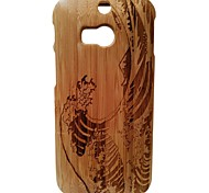Kyuet Bamboo Case Natural Superior Bamboo Laser Engraving Wave Shell Cover Skin Cell Phone Case for Htc One M8