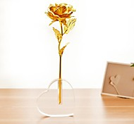 Valentine's Day Gift 24K Gold Foil Rose-Open with A Base