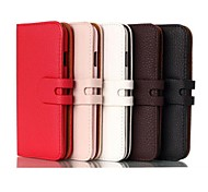 High Quality Genuine Leather Flip Stand Full Body Case for iPhone 6 (Assorted Colors)