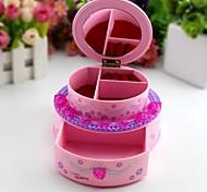 Creative Birthday Cake Shaped Music Box Jewelry Box With Make-up Mirror