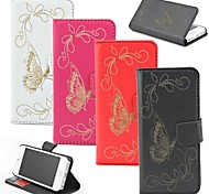 Laser Butterfly PU Leather Case with Stand and Card Slot for Wiko Lenny