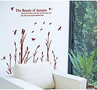 Paper Dragonfly Reed Wall Stickers