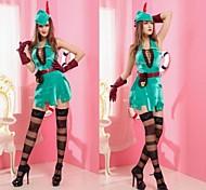 robin verde carnaval traje do partido das mulheres capa de poliéster