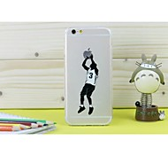 Basketball Star Transparent TPU Pattern Soft Case for iPhone 6