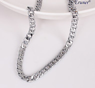 eruner®unisex argento 7 millimetri collana a catena No.112