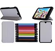 Triple modello pieghevole caso leathe 7 pollici ad alta qualità dell'unità di elaborazione per HP Slate 7 tablet 3g (colori assortiti)