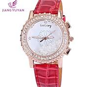 Women Rhinestone Watch Fashion Casual Sports Sale Ladies Wristwatches Quartz Leather Strap Watch(Assorted Colors)