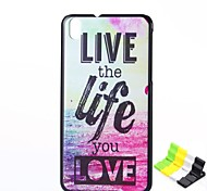 Letter Pattern PC Hard Case and Phone Holder for HTC Desire 816