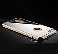 High Quality Metal frame Mirror Metal Hard Case for iPhone 6 Plus(Assorted Colors)