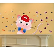 Fashion kitten Children Room Decorate Wall Sticker