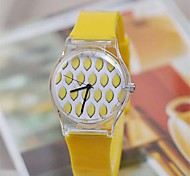 Women's Lovely Summer Sweet Fruit Watch  Plastic Watch Circular High Quality  Watch