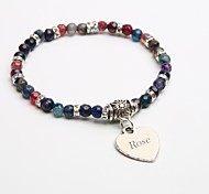 Personalized Gift Natural Stone Bracelet Crystal Strand Bracelets Tourmaline Black for Children