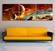 E-HOME® Interstellar Clock in Canvas 3pcs