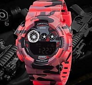 relógio de design camuflagem militar LCD Digital elástico pulso dos homens (cores sortidas)