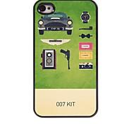Caso duro di alluminio di disegno 007 kit per iPhone 4 / 4S