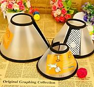 collier de haute qualité de la défense en plastique pour chiens de compagnie (de diverses tailles: 4-7)