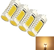 5W G4 LED Corn Lights T 4 COB 210 lm Warm White Decorative DC 12 / AC 12 V 4 pcs