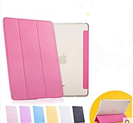 High Quality Super Slim PU Leather Translucent Smart Case for iPad Air 2 (Assorted Colors)