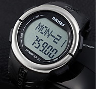 Men's LCD Multifunctional Digital Pedometer 3D Rubber Strap Sports Wrist Watch
