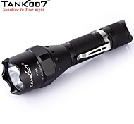 TANK007 PT40 Standard type Tactical 5-Mode 1xCREE XM-L U2 LED Flashlight (1000LM, 1x18650/2xCR123/2x16340 , Black)