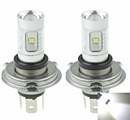 2x h4 P43t 30w 6500k 6xcree froide de 2100lm blanc pour la lumière de brouillard de voiture (ac / DC12V-24)