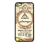 Triangle Circle the Letters Leather Vein Pattern Hard Case for iPod touch 5