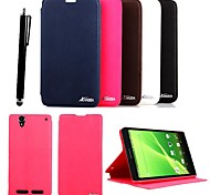 KARZEA™Elegant PU Leather Case with Stand and Stylus for Sony Xperia T2 (Assorted Colors)