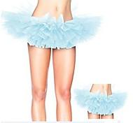 Blue Tulle Bouffant Tutu Women's Burlesque Party Dance Club Skirt