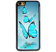 Butterfly Design Aluminum Hard Case for iPhone 5C