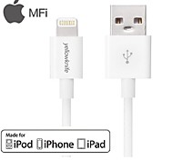 yellowknife® mfi gecertificeerd 8 pin usb sync data / oplaadkabel voor iPhone 5 / 5s / 6/6 plus (100cm)