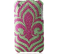 Cyan Bottom Flower Bling Case PC Hard Case for iPhone 3G/3GS