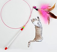 Cats Toys Teaser / Feather Toy Stick Textile