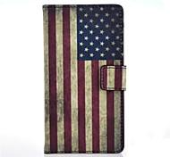 patrón de la bandera americana el caso de cuero de la PU con el soporte y la tarjeta de la ranura para Nokia Lumia 535