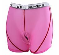almohadilla de gel ciclismo oeste biking® debajo de pantalones calzoncillos rosados negros transpirable tamaño masculina ropa interior femenina